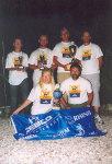 1. Sieger Zebco mit Pokalen